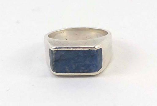 Lapis_Masculine Ring for Butch lesbians_Queers_GarnetTheory-Front