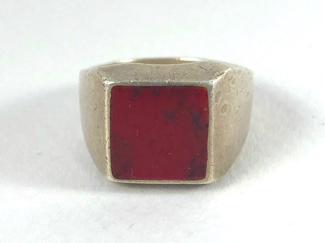 Ferrum Vintage Red Jasper Ring
