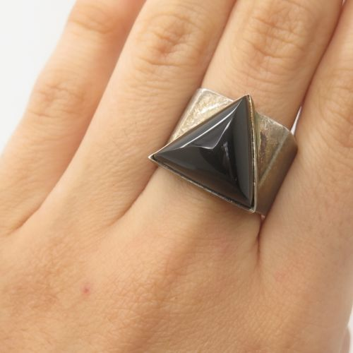 Saturn Vintage Onyx Ring_MOC_Stud_Butch Rings_GarnetTheory_Back
