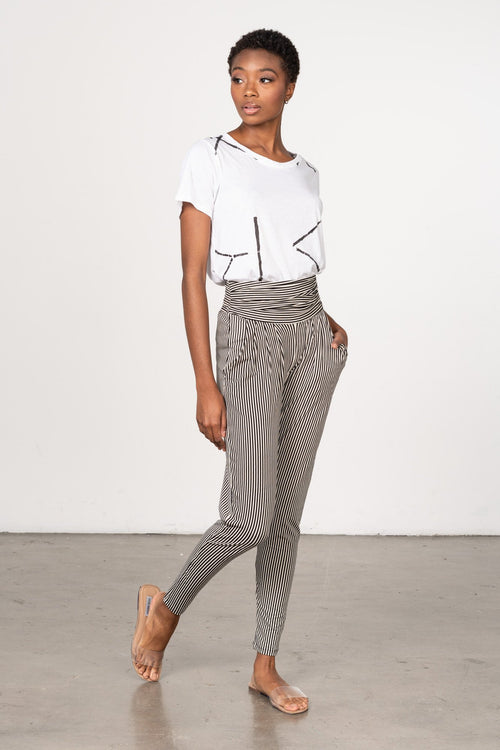 BEL-KAZAN-MIKA-TOP-WHITE-STIX-SOHO-PANT-BLACK-STRIPE-JERSEY-FAVORITE-BOTTOMS-CASUAL-EVERYDAY-TRAVEL