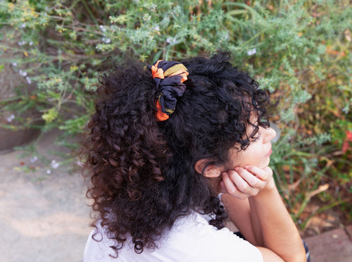 Charcoal Arrow Scrunchie