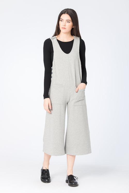 Orion Jumpsuit | BEL KAZAN | French Terry Heather | Made in Bali