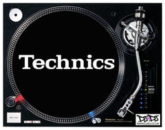 Black technics slipmat & turntable