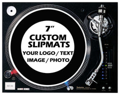 "1 Pair of  7"" Custom / Personalised Slipmats"