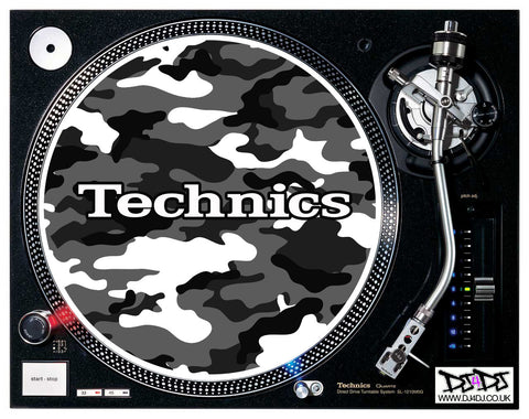 Technics Camouflage Logo Slipmats ( Various Colours)