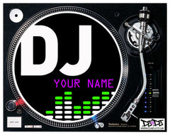 """DJ Add Your Name"" EQ Custom Slipmats"