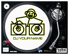 """DJ Add Your Name"" Hooj DJ  Custom Slipmats"