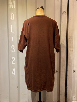 oversize brown T