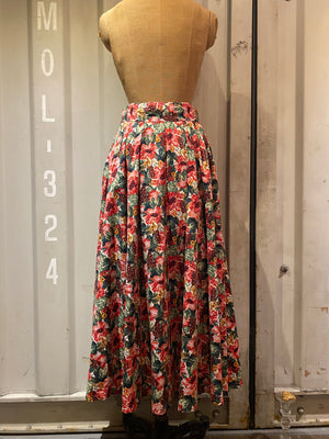 grape&flower long skirt