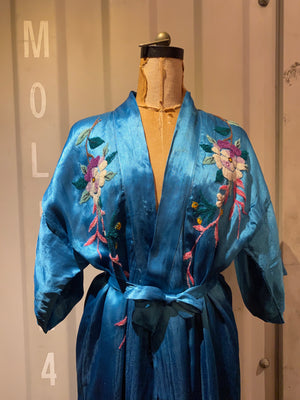 blue china gown