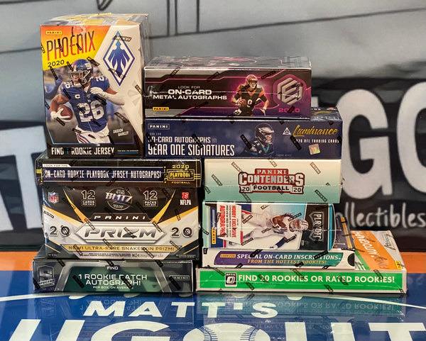 Thursday, March 4th 2021   2020 Football 10 Box Pick your Team Case Break