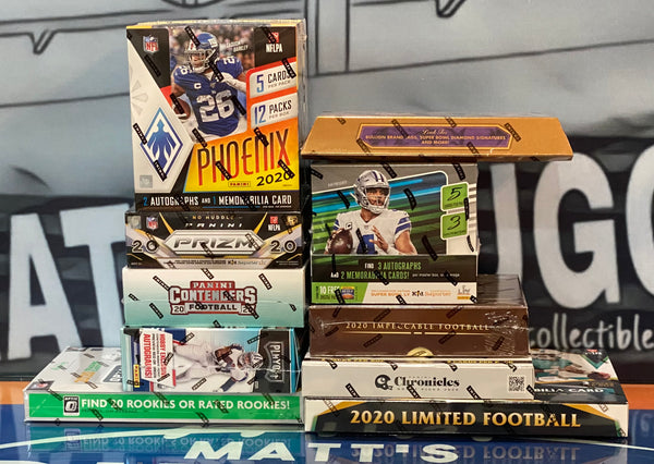 Friday, March 5th 2021   2020 Football 10 Box Pick your Team Case Break