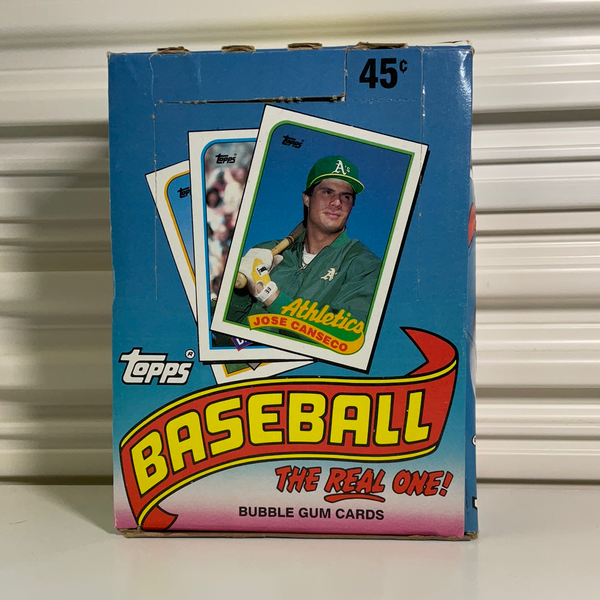 1989 Topps Baseball Wax Box. 36 Unopened Packs