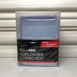 Ultra Pro Combo Box 10-130 Pt Toploaders + 10 Thick Soft Sleeves