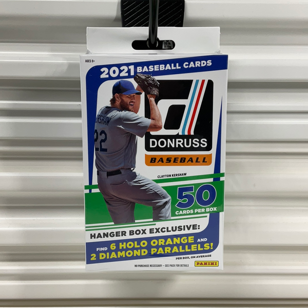 2021 Donruss Baseball Retail Hanger Box (Orange Holo & Diamond Parallels)