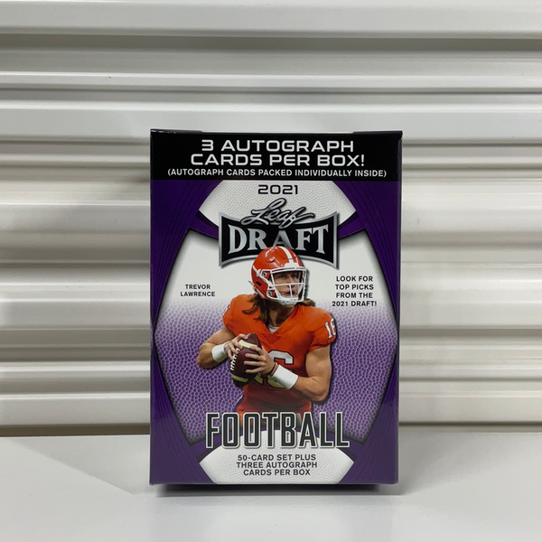 2021 Leaf Draft Football Premium Hobby Blaster Box