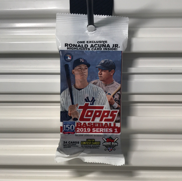2019 Topps Baseball Series 1 Retail Rack Pack
