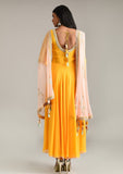 Sunrise Orange Anarkali