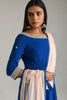 Moroccan Blue Asymmetrical Anarkali
