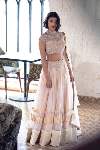 Peach Anarkali - Ready To Ship