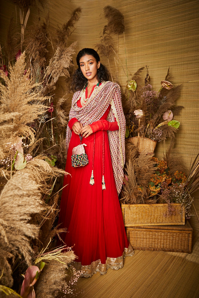 The Hibiscus Anarkali
