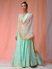 Silk Georgette Anarkali and Dupatta