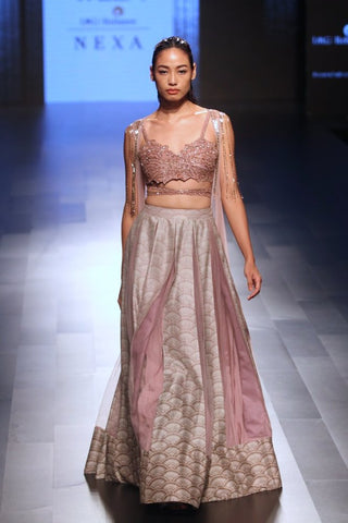 Dusty Pink Lehenga with Dupatta - Ready to Ship