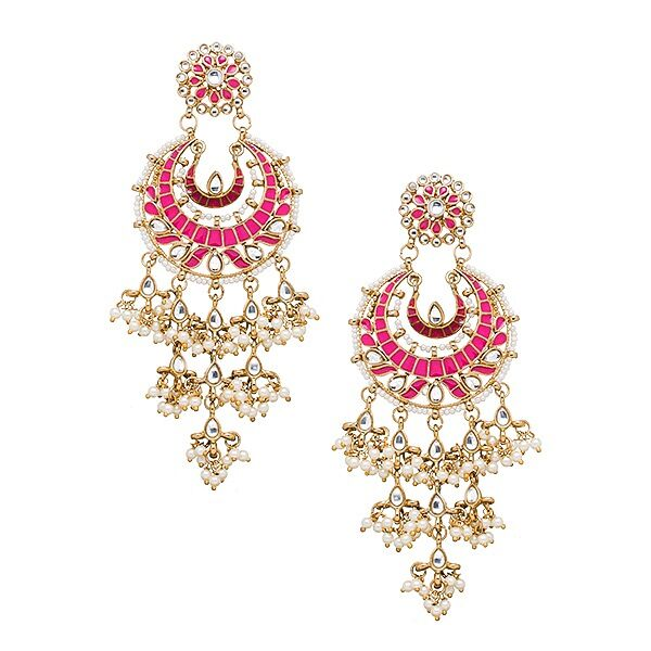 Suha Earrings in Pink