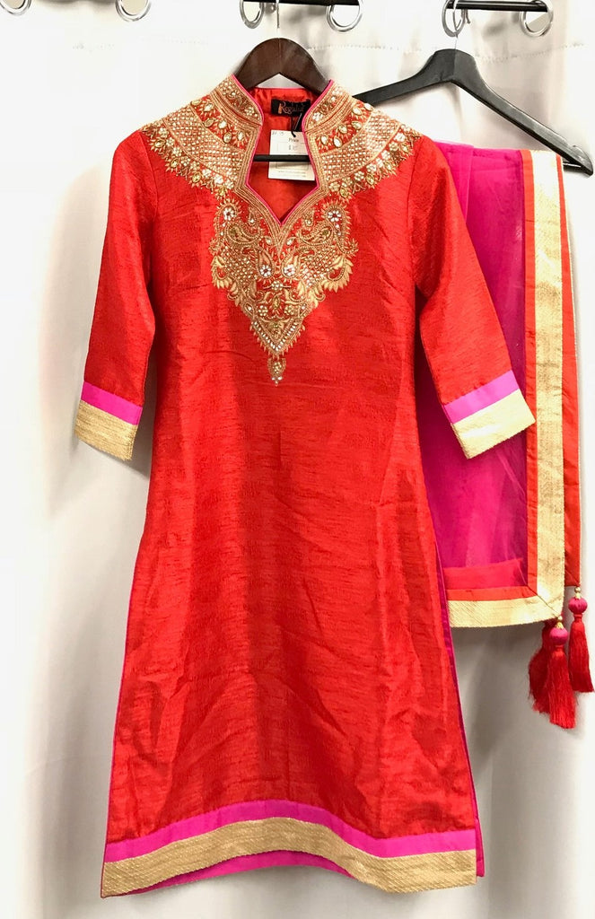 Ruby Red Anarkali - Ready to Ship