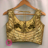 Gold Sequin Embroidered Blouse- Ready to Ship