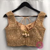 Light gold Sequined Blouse- Ready to Ship