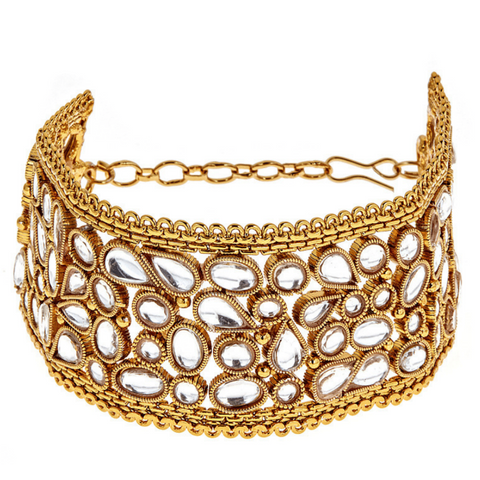 Neila Hand Bracelet in Champagne - Ready To Ship