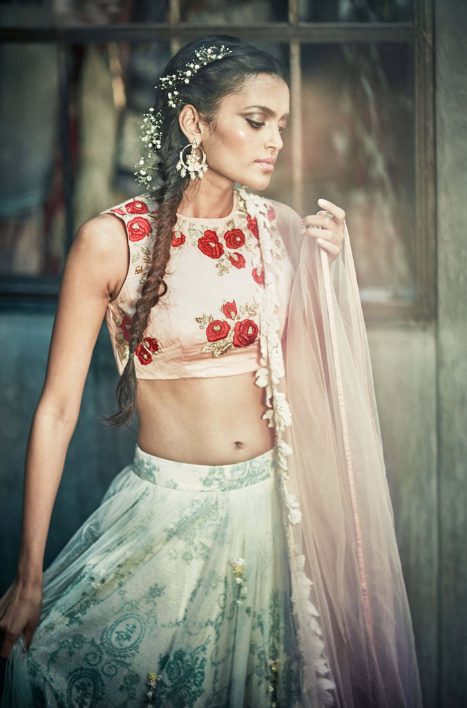The Vintage Rose Lehenga