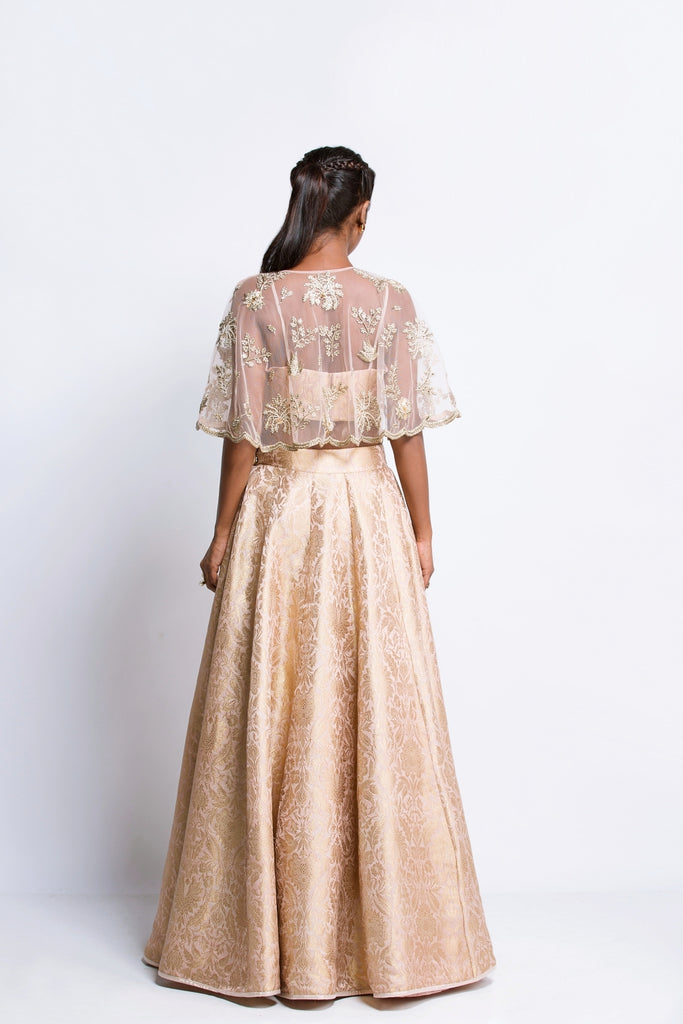 The Blush Cape Lehenga