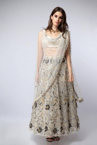 The Leaf Embroidered Gown