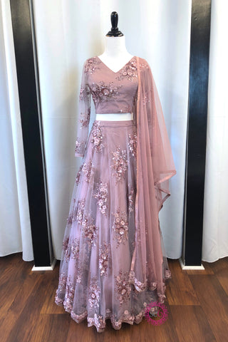 The Lilac Scallop Lehenga - Ready To Ship