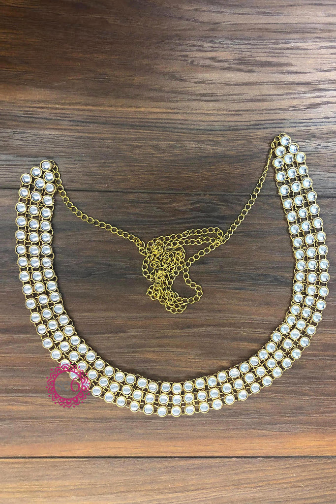 3-Strand Adjustable Kundan Belt - Ready to ship