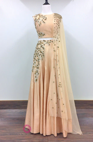 Off-the-Shoulder Lehenga Set - Ready To Ship