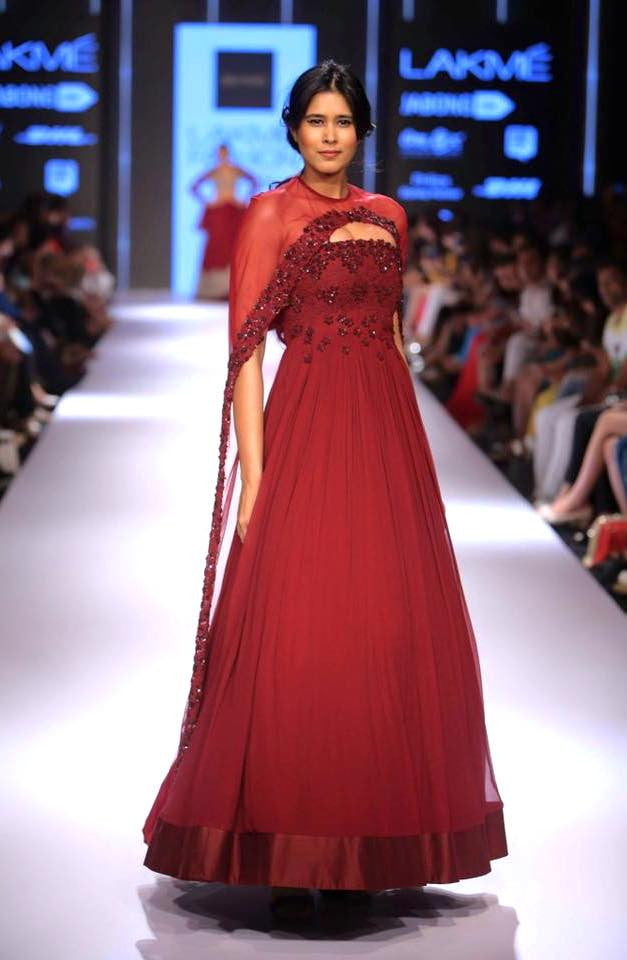 The Prism Red Anarkali