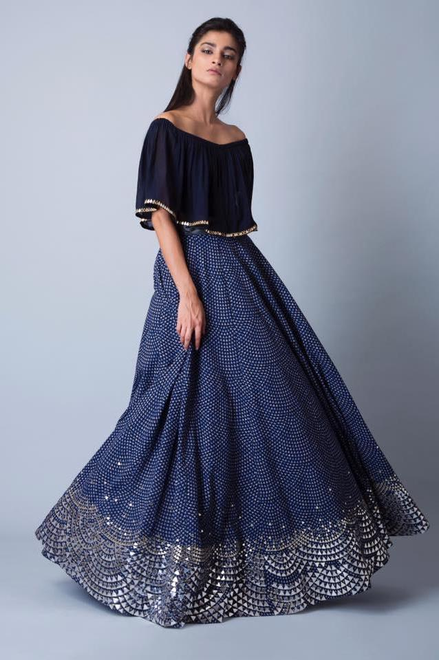 The Arcadia Navy Blue Lehenga