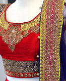 Red Bridal Lehenga with Gold Zardozi Embroidery - Sample Sale