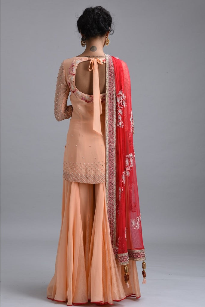 Embroidered Kurta with Garara