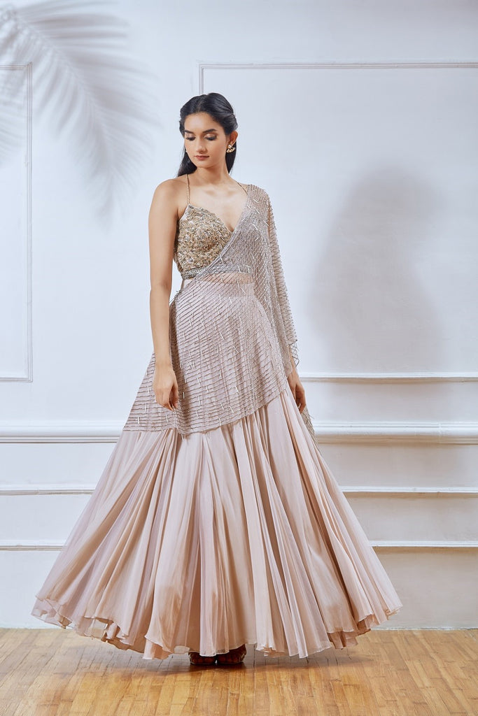 Dusty Pink Lehenga with Dupatta