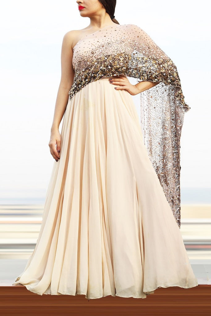 Gold Embellished Anarkali
