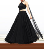 Black Cut Out Anarkali