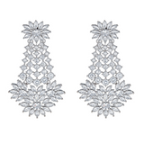 Fariya Drop Earrings in Silver - Ready To Ship
