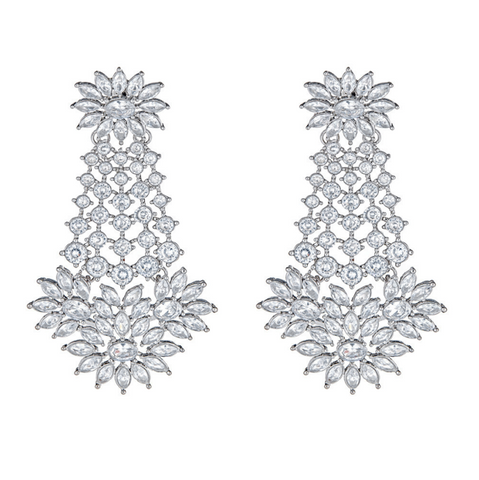 Diya Earrings in Pearl