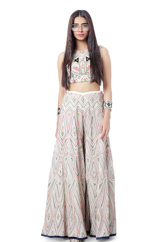 Blush Crop Top and Pants Set
