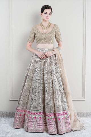 The Zainab Cutwork Lehenga