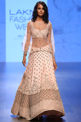 The Blush Ava Lehenga